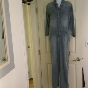 Free People jean jump suit